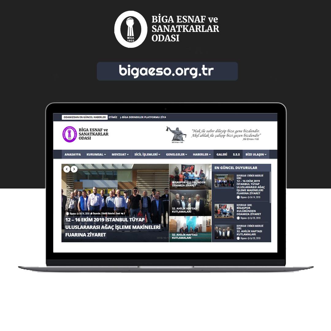 Biga esnaf ve sanatkarlar odası web sitesi