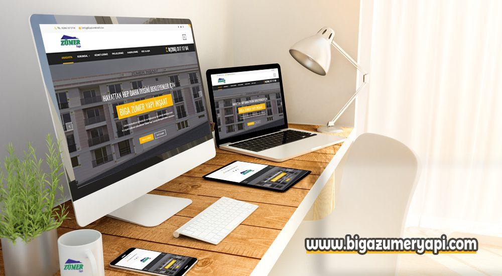Biga zümer yapı inşaat web sitesi