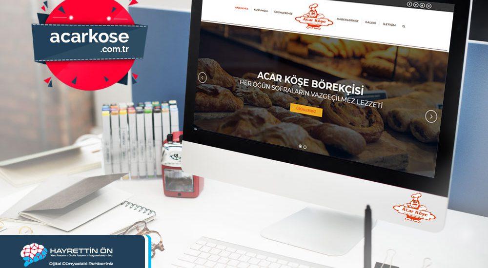 Acar köşe börekçisi web sitesi