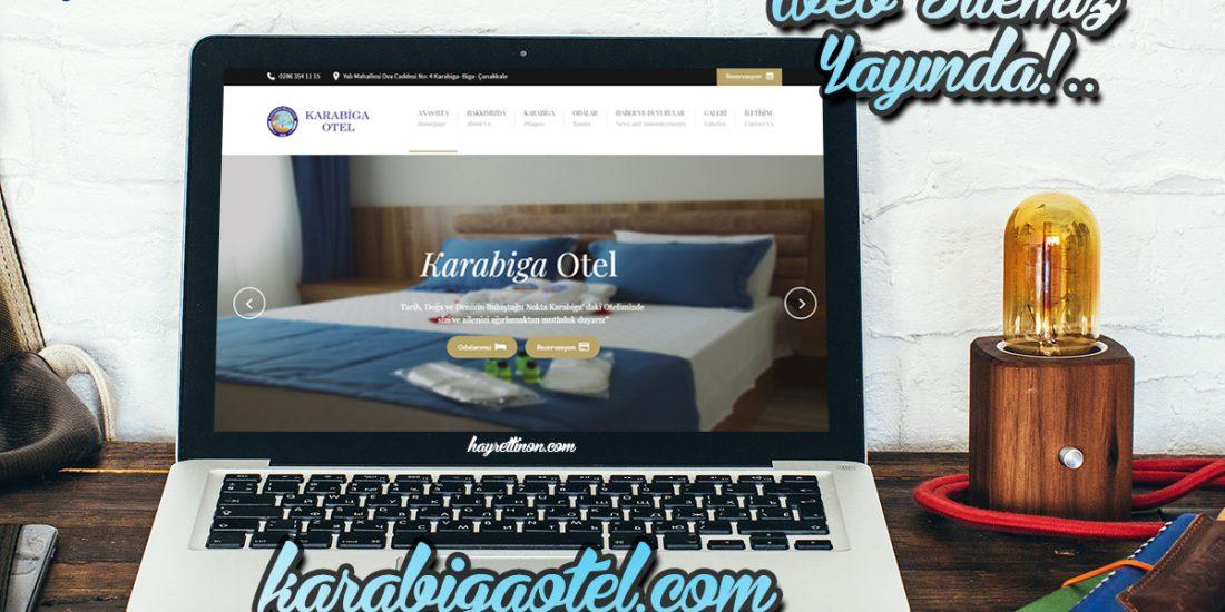 Karabiga otel web sitesi