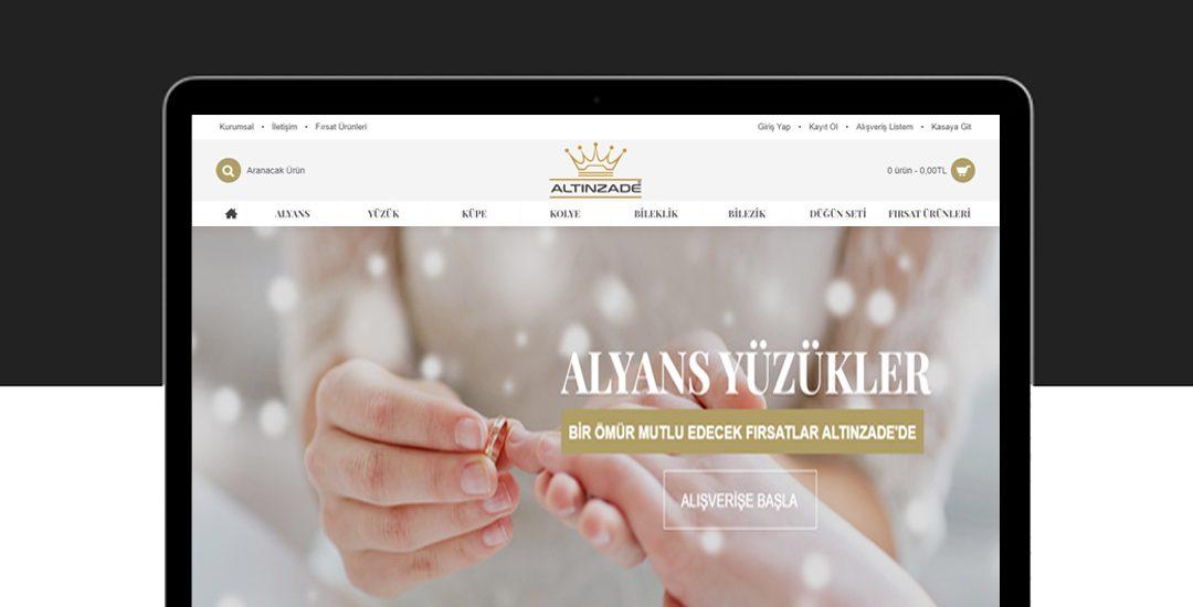 altınzade kuyumculuk web site tasarımı