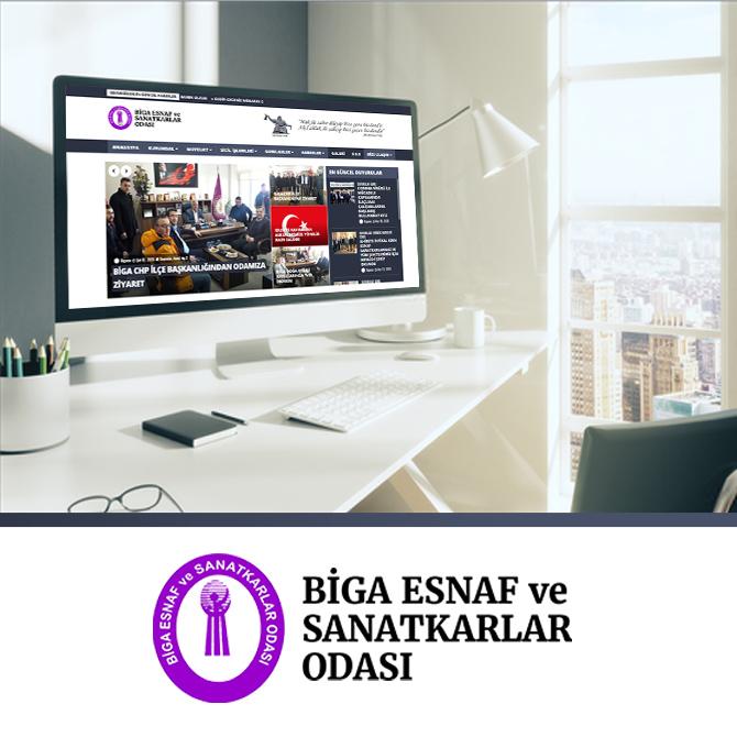 Biga Esnaf odası web internet sitesi
