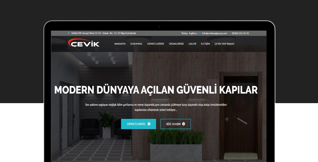 Biga Çevik Yapı Group Web Sitesi