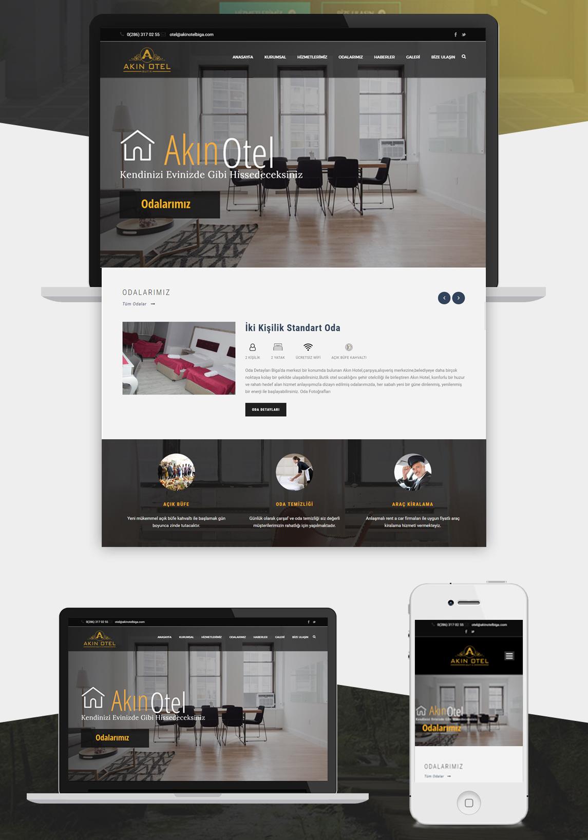 Biga Akın Hotel Web Tasarım