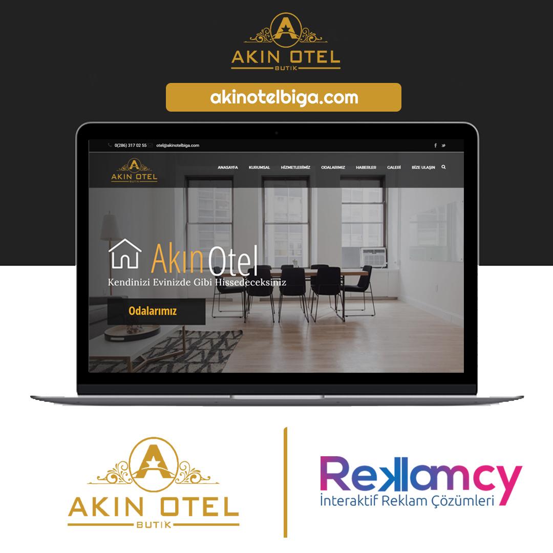 Akın Otel Biga Web Sitesi
