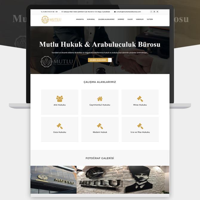 Biga Avukat Web Sitesi Mutlu Hukuk Bürosu