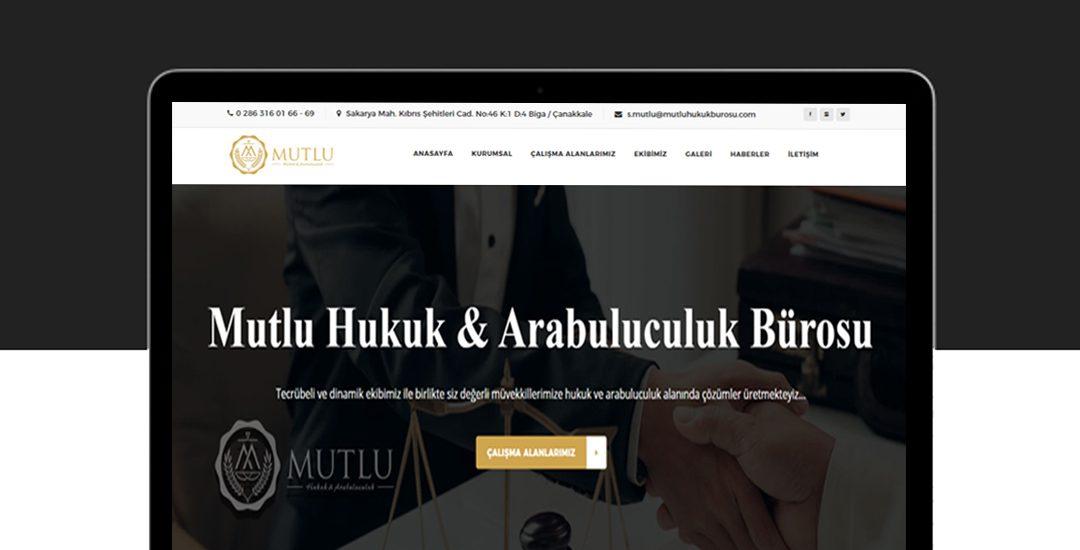 Mutlu Hukuk Bürosu internet sitesi