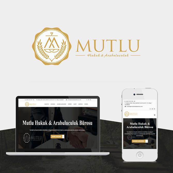 Mutlu Hukuk Bürosu web tasarımı