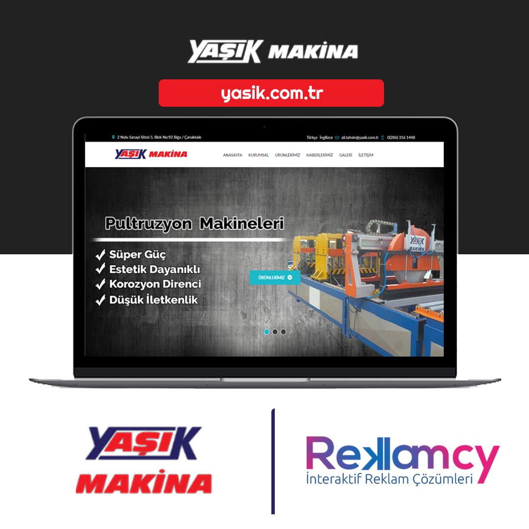 Yaşık Makine web site tasarımı