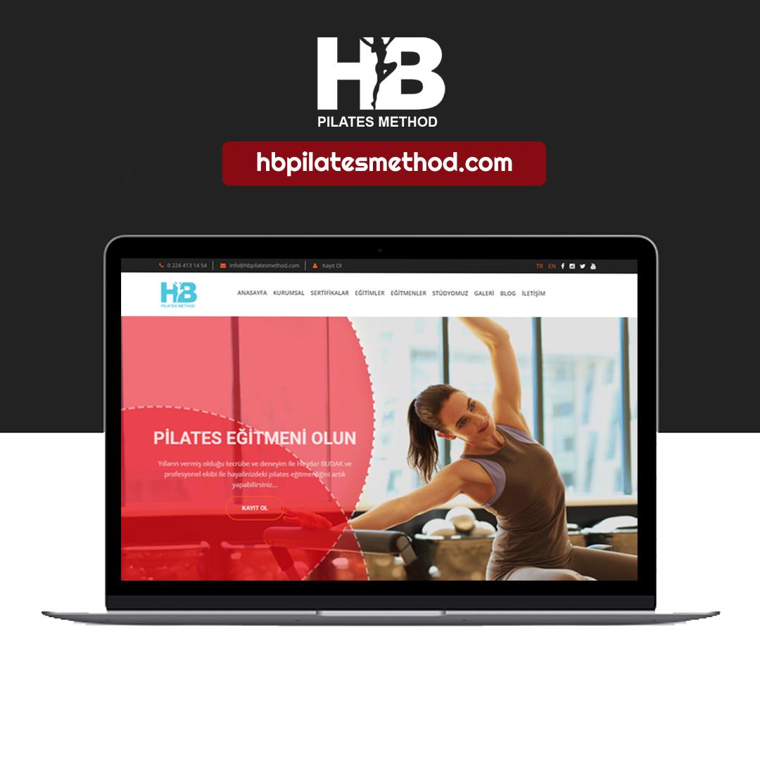 HB Pilates Method web sitesi