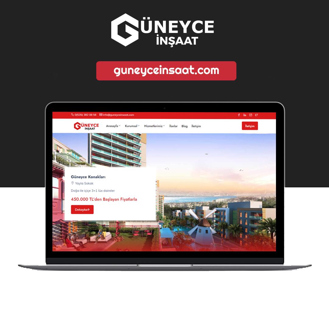 Güneyce İnşaat Web Sitesi